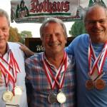 Clubmeister im Herreneinzel und Doppel ab 50: Norbert Lehmann, Friedhelm Euler und Hans Berner
